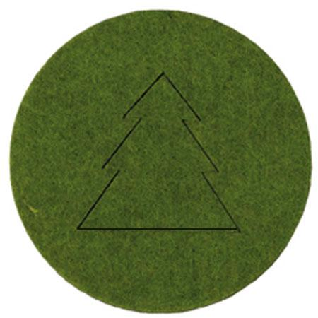 Feutrine - 4 Sapins Noël Vert