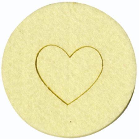 Feutrine - 4 Coeurs - Crème