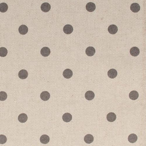 Coupon de Coton - Pois Gris - 30 x 90 cm