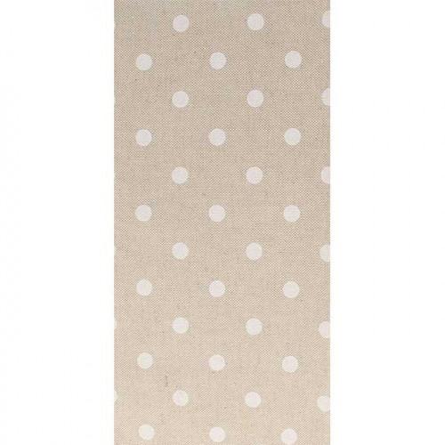 Coupon de Coton - Pois Blancs - 30 x 90 cm
