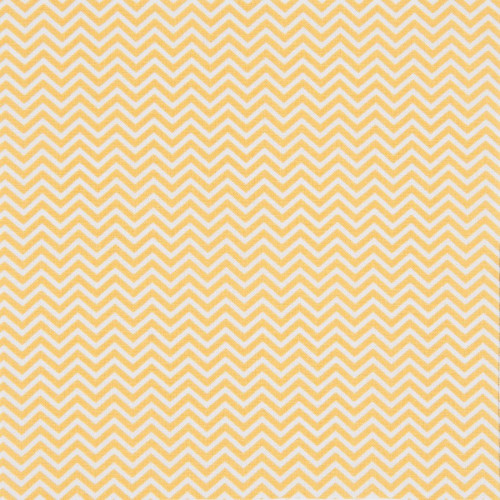 Coupon de tissu - Chevrons - jaune moutarde - 50 x 140 cm