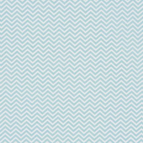 Coupon de tissu - Chevron - bleu arctique - 50 x 140 cm