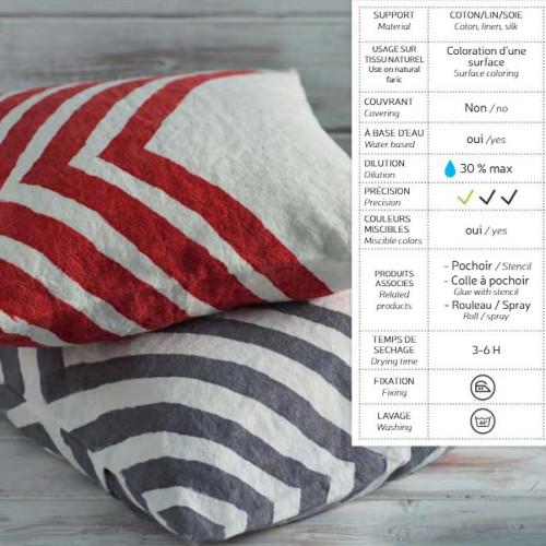 Teinture textile Izink Prune cinabre - 80 ml