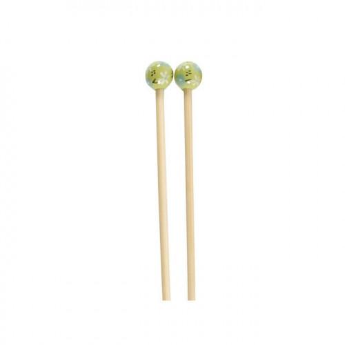 Aiguilles à tricoter en bambou - N° 4.5 - vert pâle