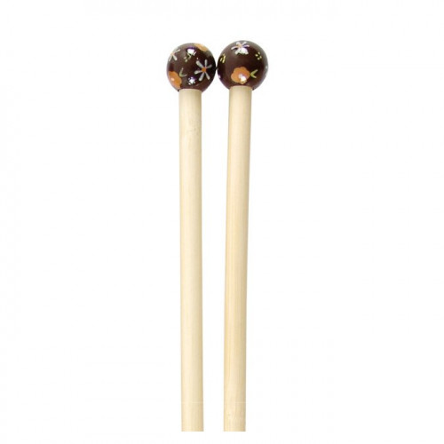 Aiguilles à tricoter en bambou - N° 9 - bordeaux