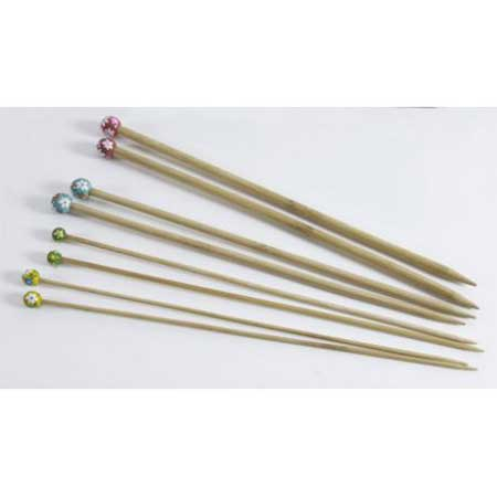 Aiguilles à tricoter en bambou - N° 5 - vert