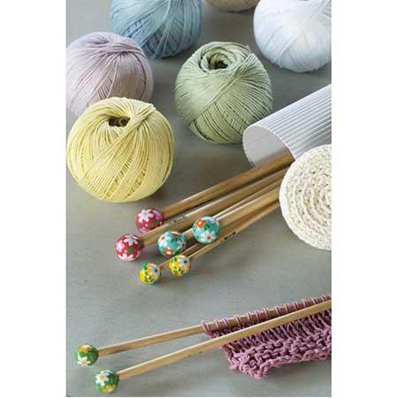 Aiguilles à tricoter en bambou - N° 6 - bleu marine
