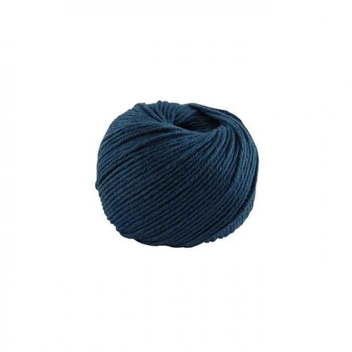 Fil à tricoter, crocheter Natura Medium - bleu de Prusse 177 - 50 g