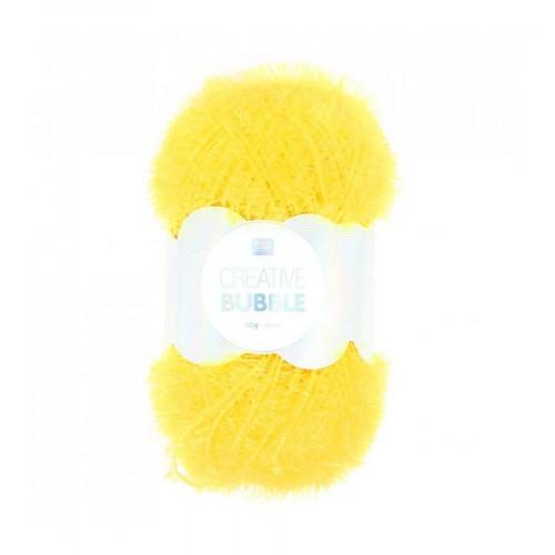 Creative Bubble - Laine éponge à tricoter - Jaune - 90 m