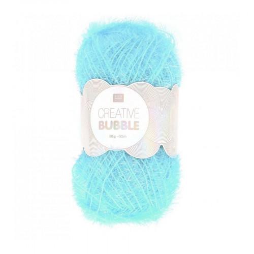 Creative Bubble - Laine éponge à tricoter - Bleu clair - 90 m