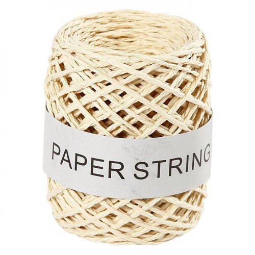Ficelle de papier - naturel - 1 mm x 50 m