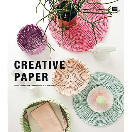 Creative Paper - Papier à crocheter - Jaune - 55 m