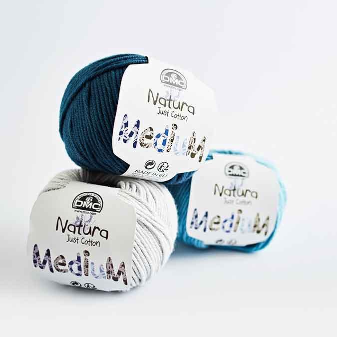 Fil à tricoter, crocheter Natura Medium - blanc 01 - 50 g