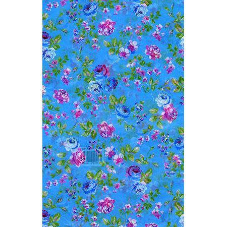 Feuille Décopatch - Rose rose et bleu - 30 x 40 cm