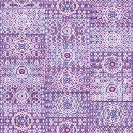 Feuille Décopatch - Rosaces violette - 30 x 40 cm