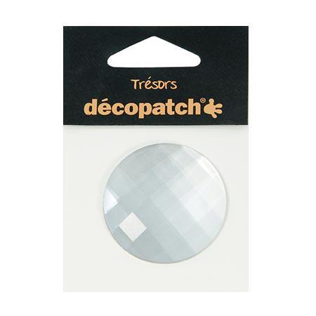 Cabochon - rond - blanc - 4,5 cm
