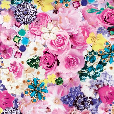 Feuille Décopatch - Bouquet de fleurs - 639 - 30 x 40 cm