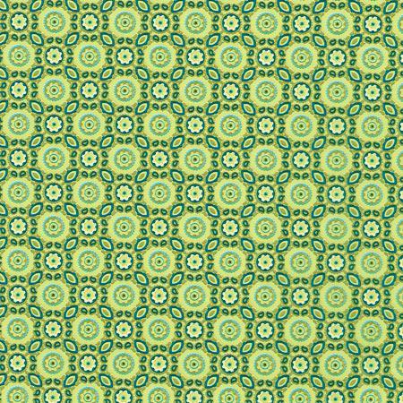 Feuille Décopatch - Formes arrondies sur fond vert - 643 - 30 x 40 cm