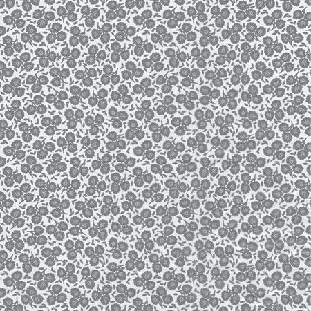 Feuille Décopatch - Fleurs sur fond blanc - 648 - 30 x 40 cm