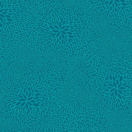 Feuille Décopatch - Rosaces bleues sur fond bleu vert - 651 - 30 x 40 cm