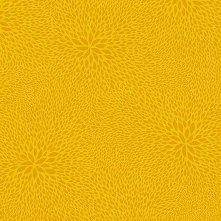 Feuille Décopatch - Rosaces sur fond jaune - 654 - 30 x 40 cm
