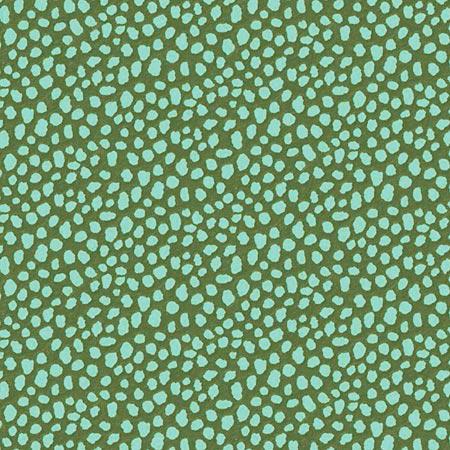 Feuille Décopatch - Formes de galets sur fond vert - 662 - 30 x 40 cm