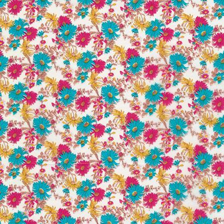 Feuille Décopatch - Fleurs des champs - 683 - 30 x 40 cm