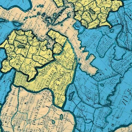 Feuille Décopatch - Carte du monde - 691 - 30 x 40 cm