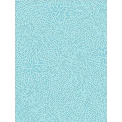 Feuille Décopatch - gouttes, tons bleus glaciers - 30 x 40 cm