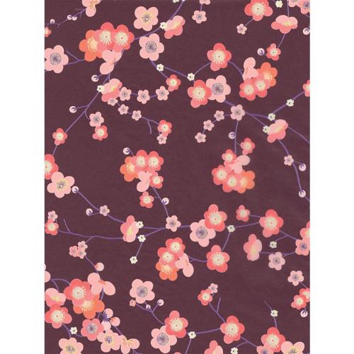 Feuille Décopatch - Fleurs de cerisier japonais - 707 - 30 x 40 cm