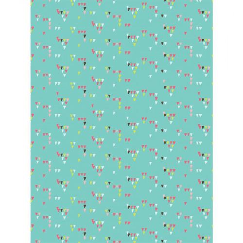 Feuille Décopatch - Petits triangles sur fond bleu - 714 - 30 x 40 cm