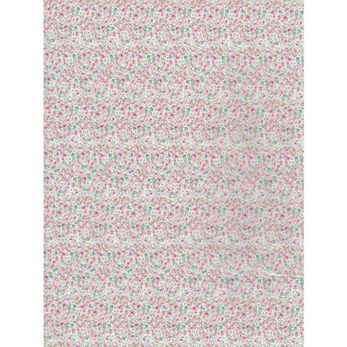 Feuille Décopatch - Fleurs liberty - 717 - 30 x 40 cm