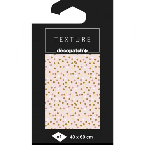 Papier Texture Décopatch Confettis  N782