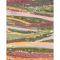 Feuille Decopatch - Mosaïque kaki - 30 x 40 cm