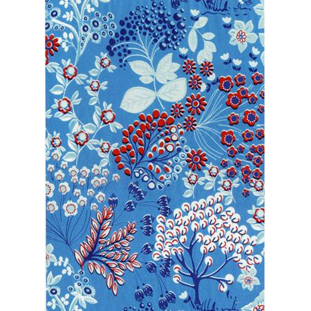 Feuille Decopatch - Printemps bleu - 30 x 40 cm