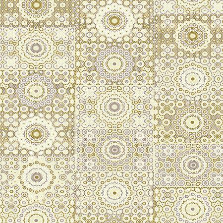 Feuille Décopatch - Rosaces sur fond gris - 638 - 30 x 40 cm
