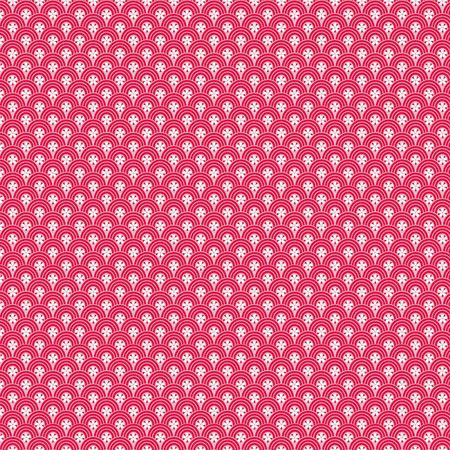 Feuille Décopatch - Formes arrondies sur fond rose - 660 - 30 x 40 cm