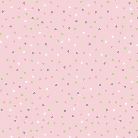 Feuille Décopatch - Petits cœurs sur fond rose - 684 - 30 x 40 cm