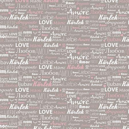 Feuille Décopatch - Mot d'amour - 686 - 30 x 40 cm