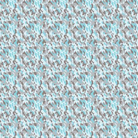 Feuille Décopatch - Mini camouflage sur fond bleu - 688 - 30 x 40 cm