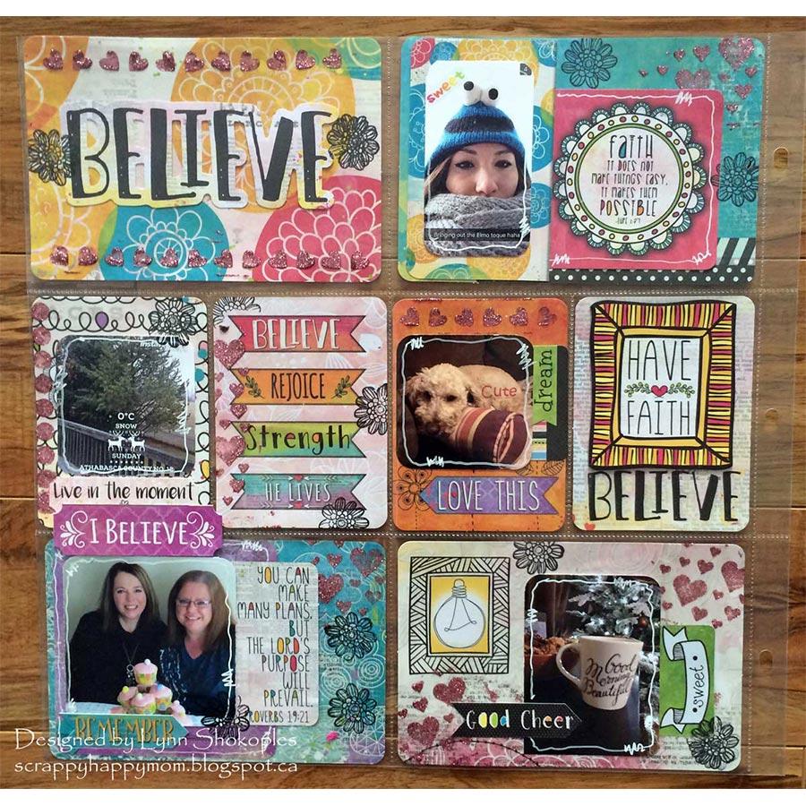 Believe - Découpage Paper - 6 feuilles
