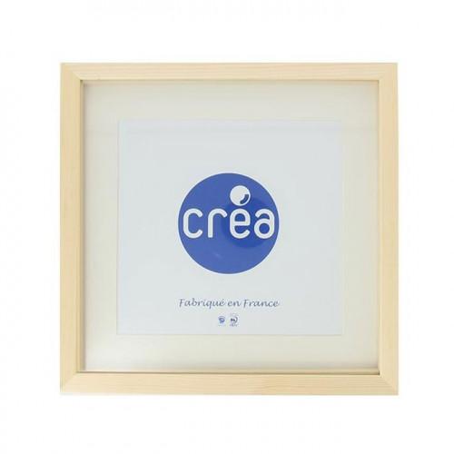 Vitrine Carla 3D - 30x30 cm - Bois brut