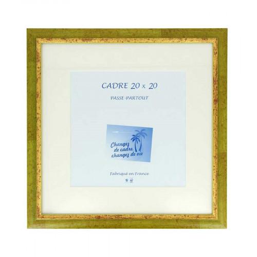 Cadre Loren 20 avec passe-partout - 20 x 20 cm - anis