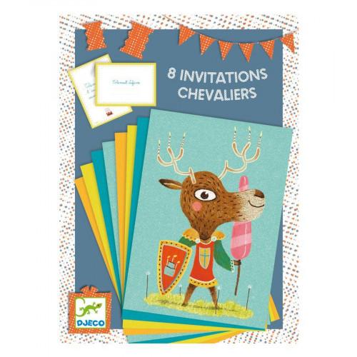 Invitations - Chevaliers - 8 pces