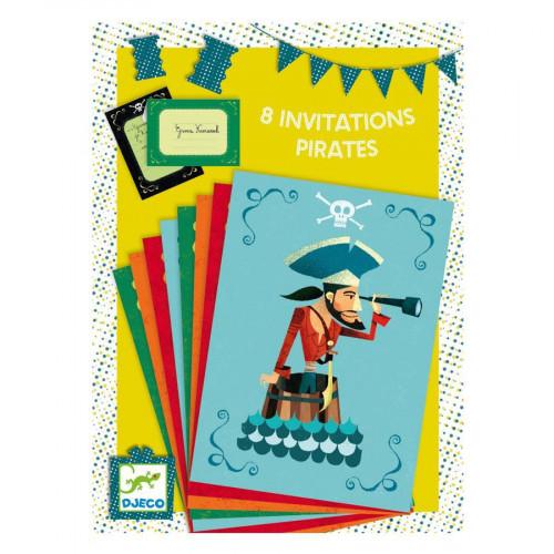 Invitations - Pirates - 8 pces