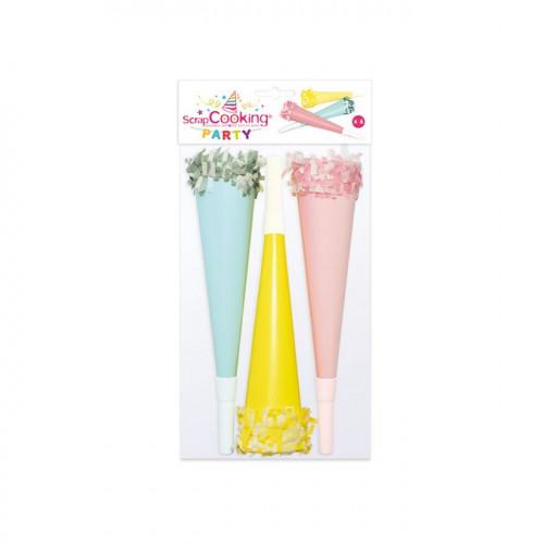 Trompettes froufrou - uni pastel - 6 pcs