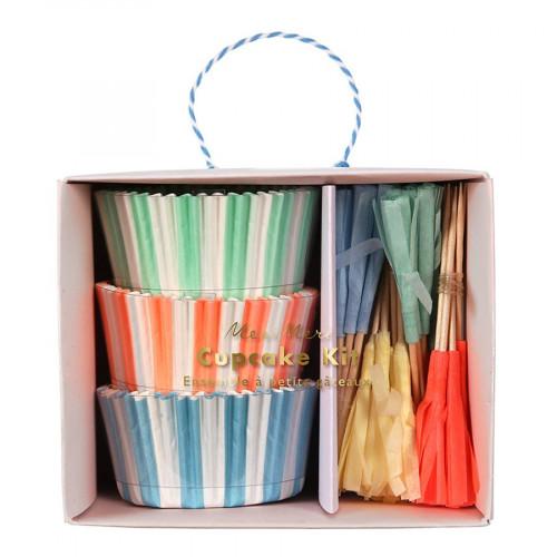 Kit cupcake - Pastel - 24 pcs