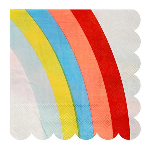 Serviettes en papier - Petit format - Arc-en-ciel - 20 pcs