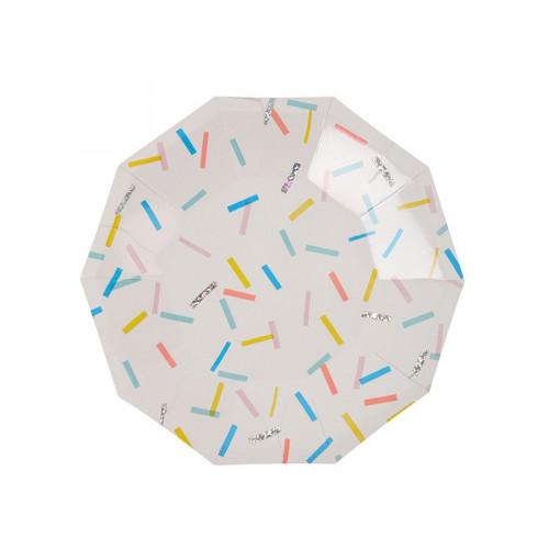 Assiettes en carton - Petit format - Sprinkles - 8 pcs