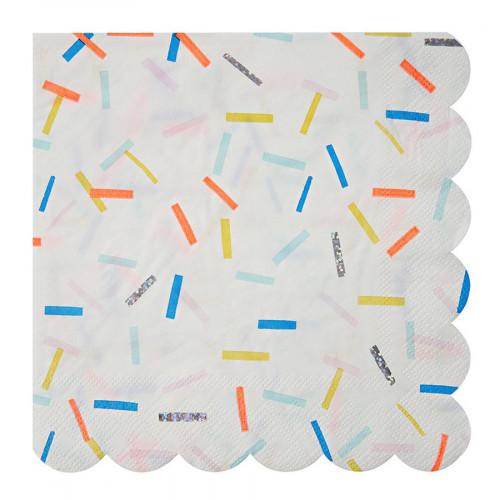 Serviettes en papier - Grand format - Sprinkles - 16 pcs